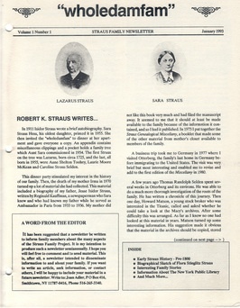Newsletter January 1993